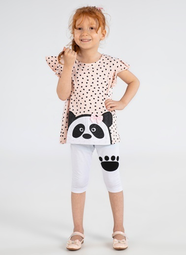 Lupiakids Panda 2'li Kız Takım Renkli